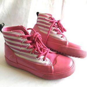 Hunter   Pink Rubber Shoes Sz 13